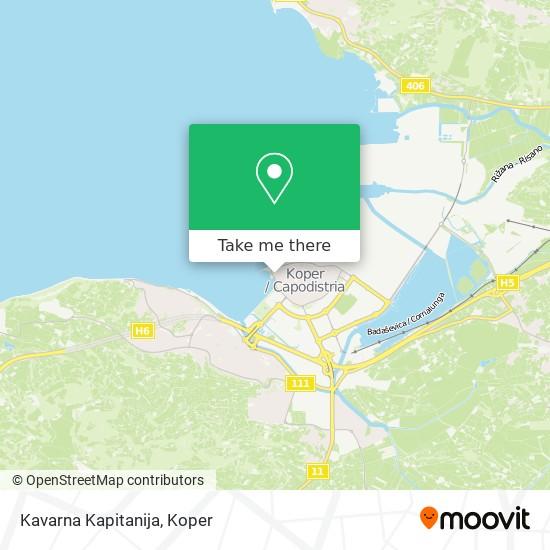 Kavarna Kapitanija map