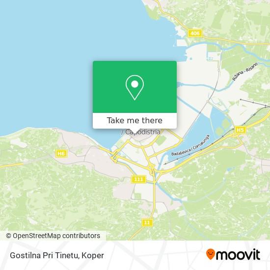 Gostilna Pri Tinetu map