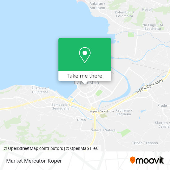 Market Mercator map