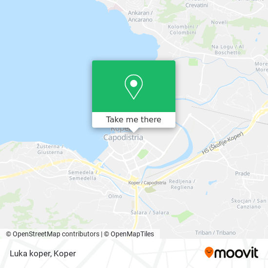 Luka koper map