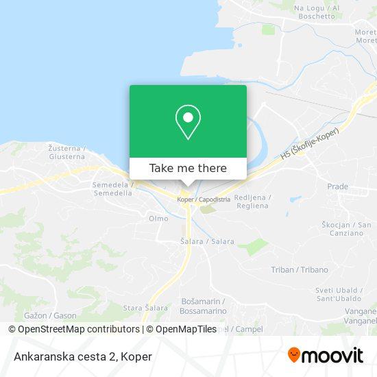Ankaranska cesta 2 map