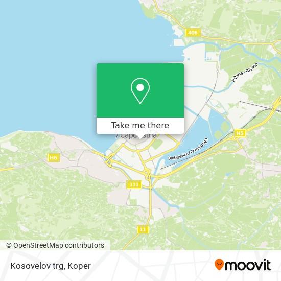 Kosovelov trg map