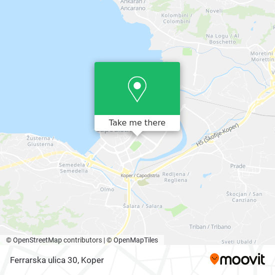 Ferrarska ulica 30 map