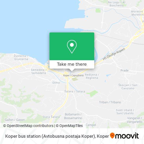 Koper bus station (Avtobusna postaja Koper) map