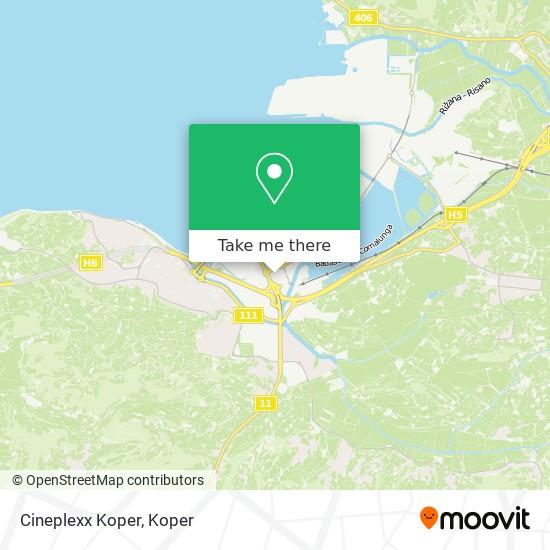Cineplexx Koper map