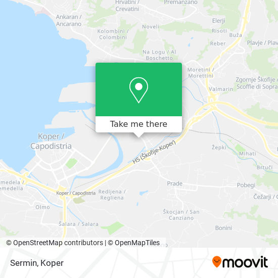 Sermin map