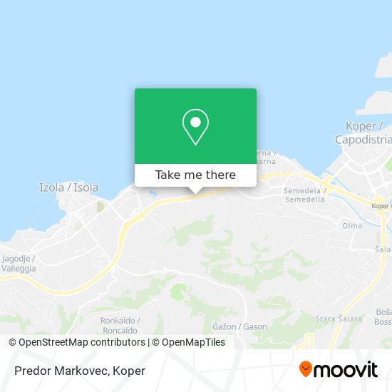 Predor Markovec map