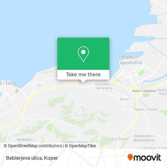 Beblerjeva ulica map
