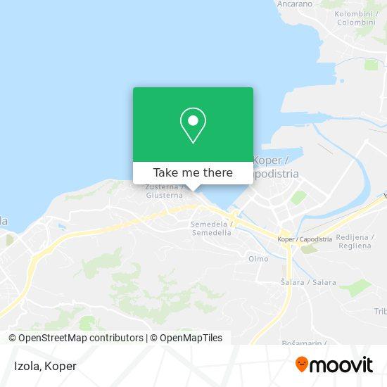 Izola map