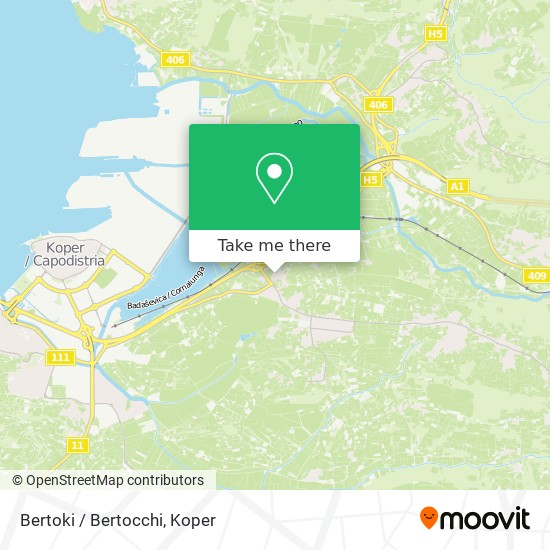 Bertoki / Bertocchi map