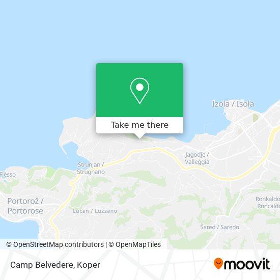 Camp Belvedere map