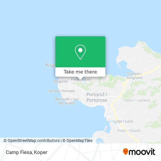 Kamp Fiesa map