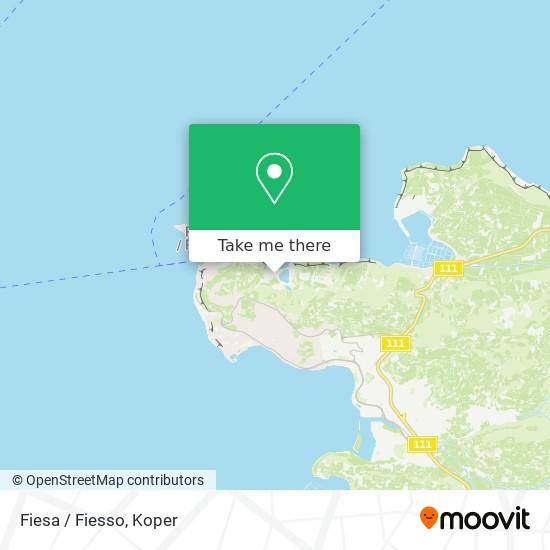 Fiesa / Fiesso map