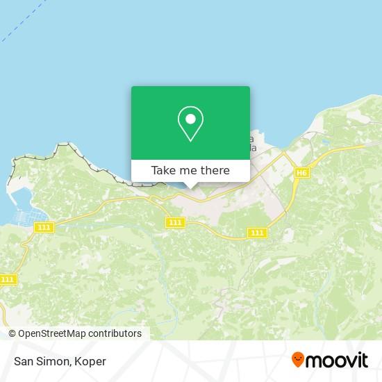 San Simon map