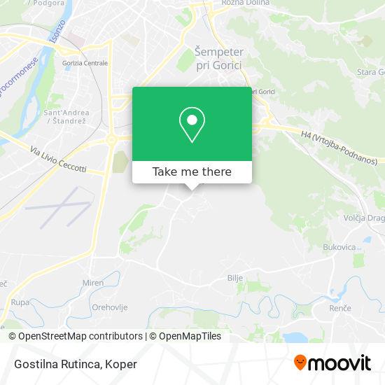 Gostilna Rutinca map