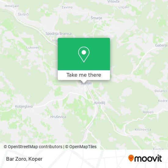 Bar Zoro map