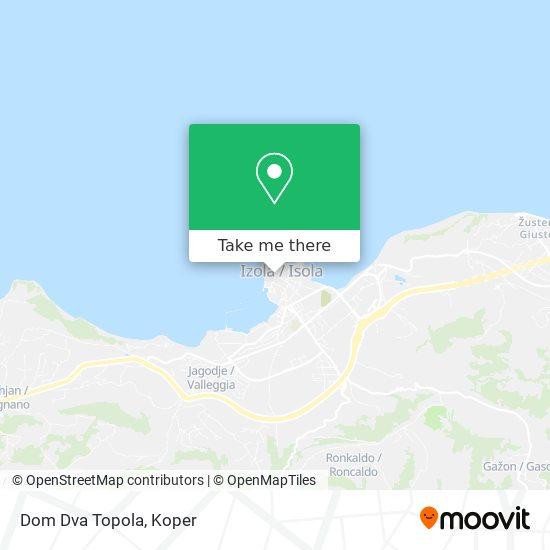 Dom Dva Topola map