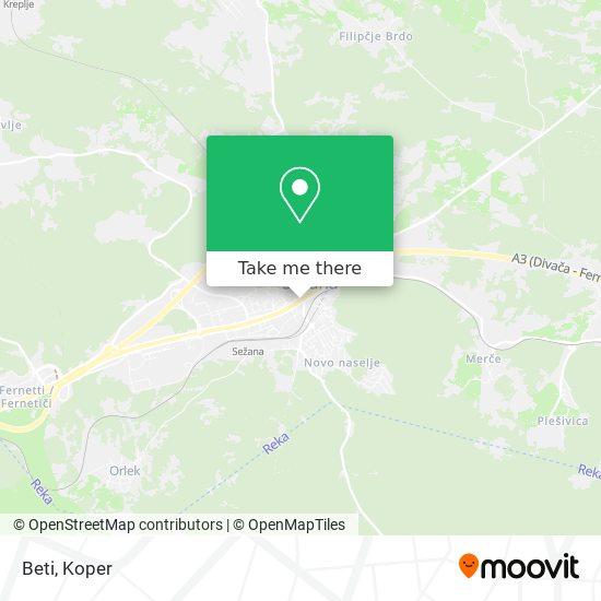 Beti map