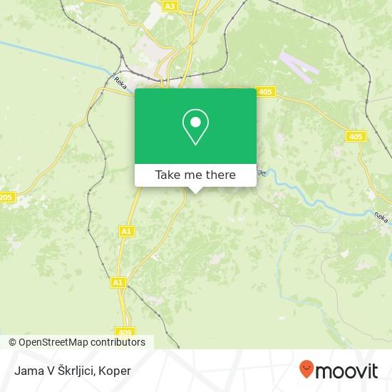 Jama V Škrljici map