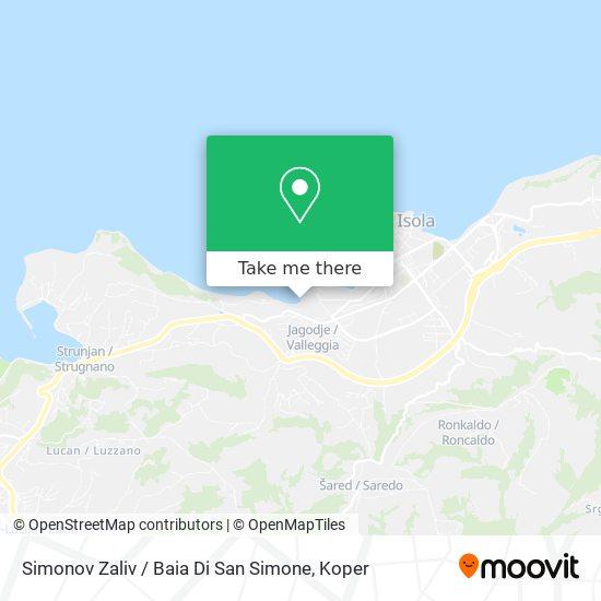 Simonov Zaliv / Baia Di San Simone map