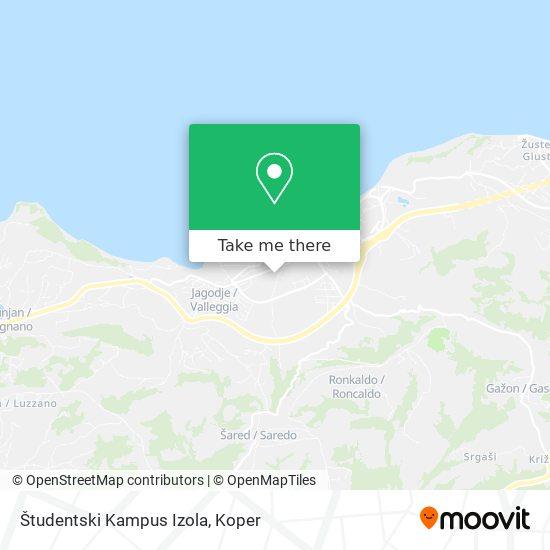 Študentski Kampus Izola (Livade) map
