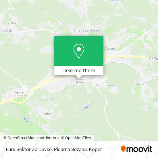 Furs Sektor Za Davke, Pisarna Sežana map