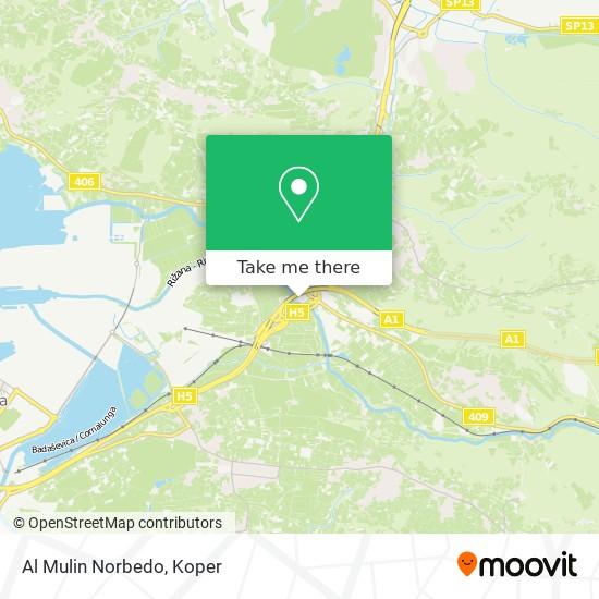 Al Mulin Norbedo map