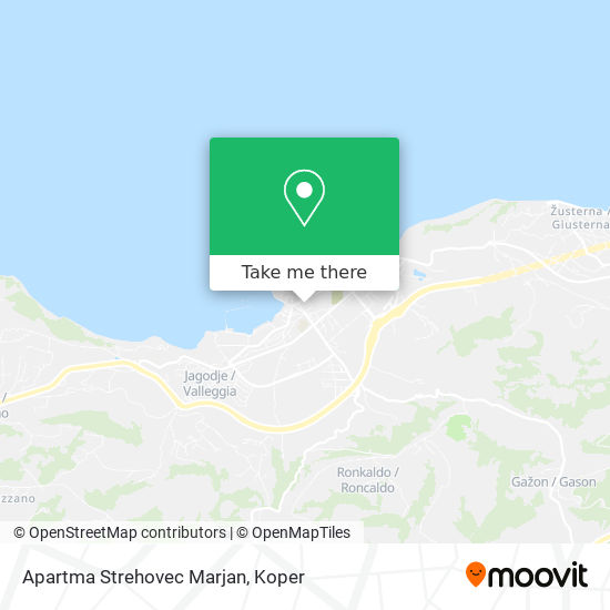 Apartma Strehovec Marjan map