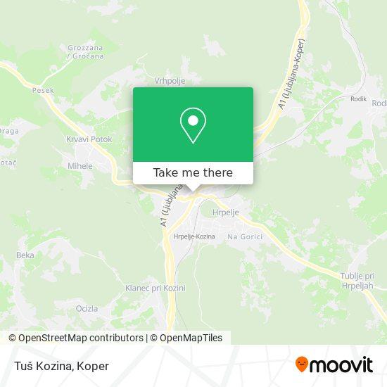 Tuš Kozina map