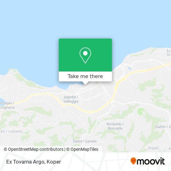 Ex Tovarna Argo map