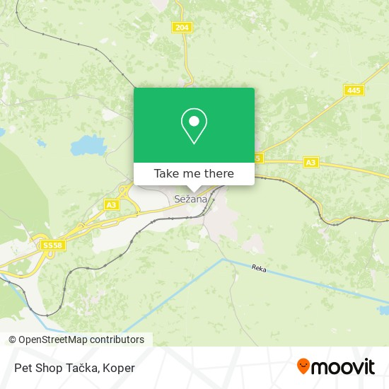 Pet Shop Tačka map