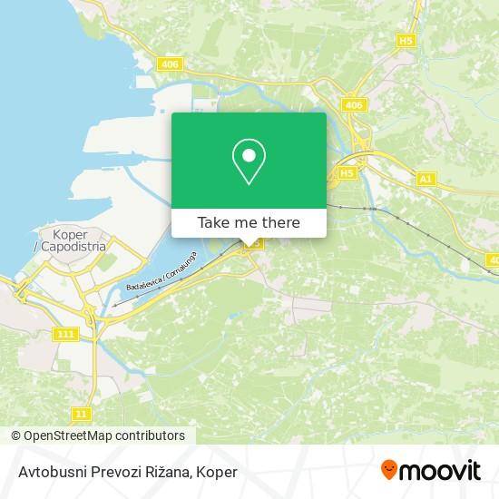 Avtobusni Prevozi Rižana map
