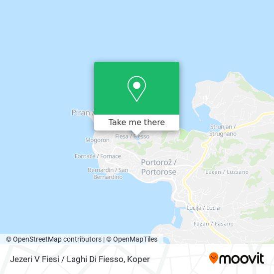 Jezeri V Fiesi / Laghi Di Fiesso map