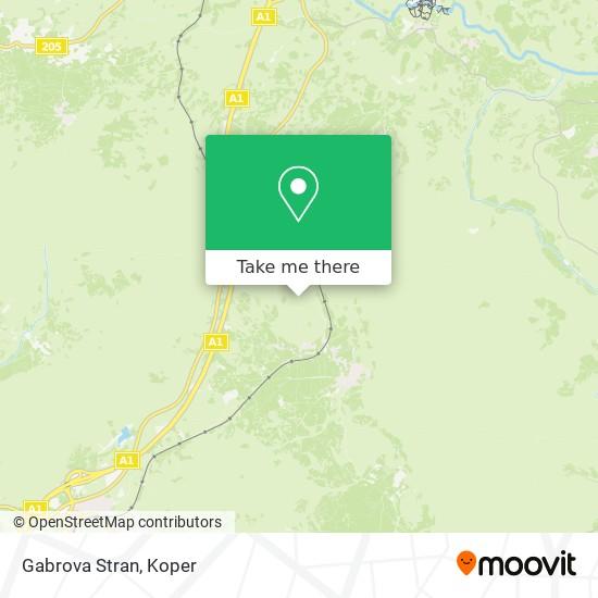 Gabrova Stran map