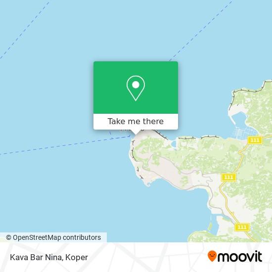 Kava Bar Nina map