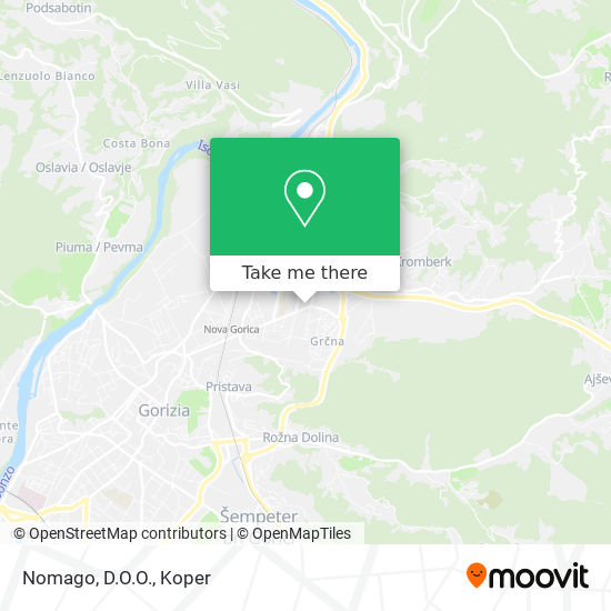 Avrigo Tours Nova Gorica map