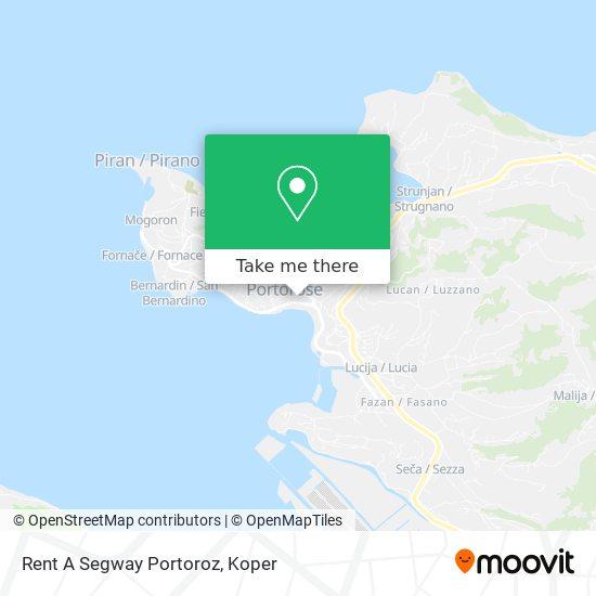 Rent A Segway Portoroz map