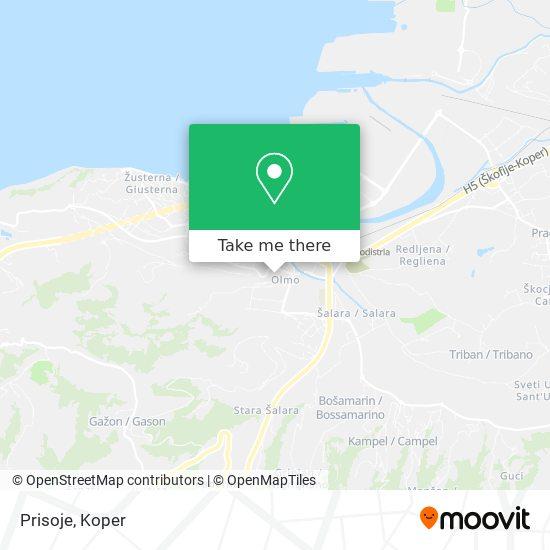 Prisoje map