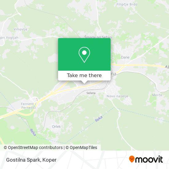 Gostilna Spark map