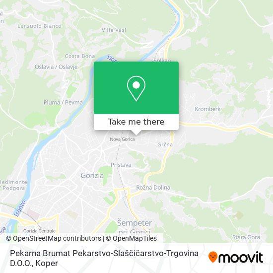 Pekarna Brumat map