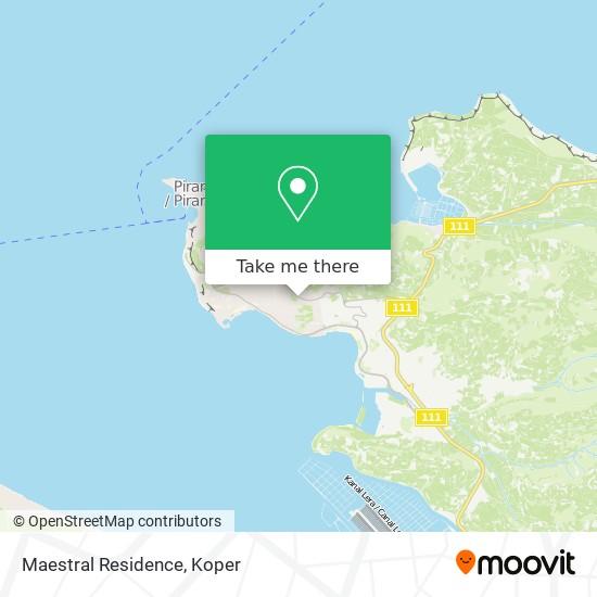 Maestral Residence map