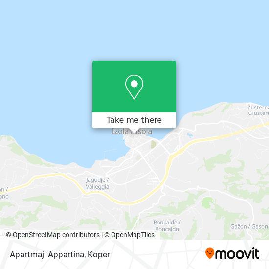 Apartmaji Appartina map
