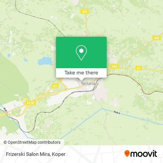 Frizerski Salon Mira map