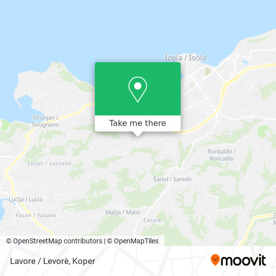 Lavore map