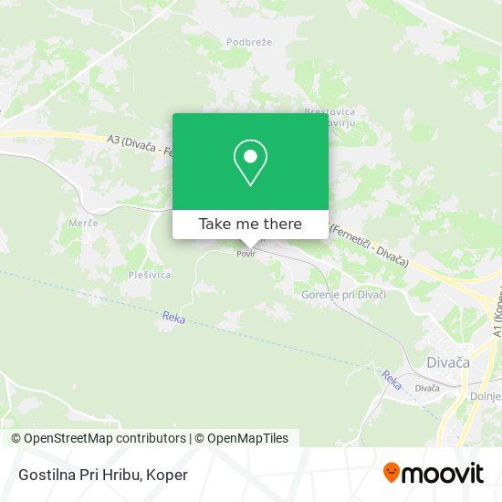 Gostilna Pri Hribu map