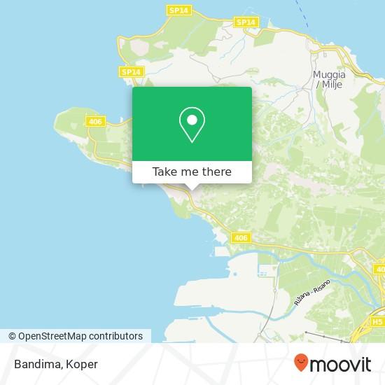 Bandima map
