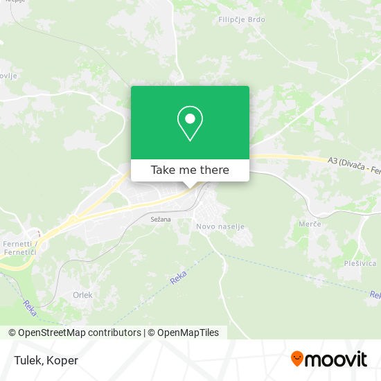 Tulek map