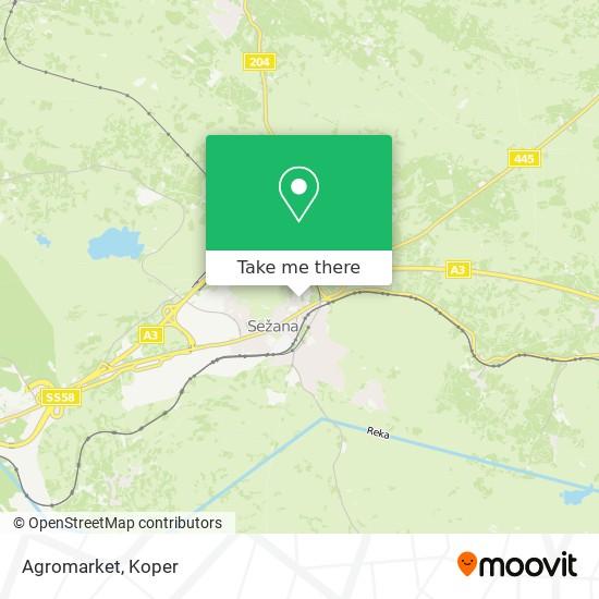Agromarket map