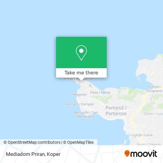 Mediadom Priran map