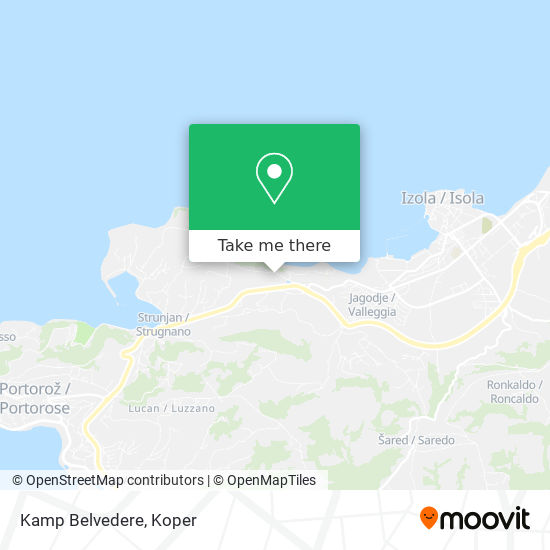 Kamp Belvedere map